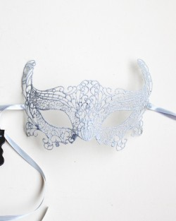 silver fox lace burano mask