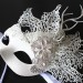 Unique Winter Ice Swan Mask with Diamante Flowers c