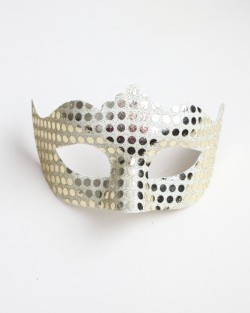 Womens Pale Gold Mirror Masquerade Mask