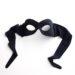 shaped female black eye mask for over glasses a