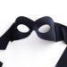 shaped female black eye mask for over glasses b
