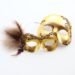 Couple's Matching Gold Bronze Brown Masquerade Masked Ball Eye Masks