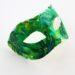 Mardi Gras Tropical Green & Yellow Palm Tree Masquerade Mask