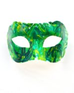 Mardi Gras Tropical Green & Yellow Palm Tree Masquerade Mask b