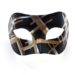 Mens Black, Silver, Gold Striped Contemporary Venetian Masked Ball Mask