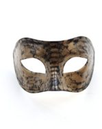 Mens Gold Black Archimedes Owl Venetian Masquerade Half Mask