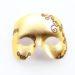 Mens Gold & Bronze Brown Masquerade Ball Party Eye Mask