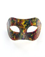 Mens Multicoloured painted art Pride Venetian Masquerade Mask