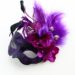 Purple & Black Handmade Floral Masked Ball Masquerade Mask