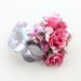 Romance Pink & Silver Floral Masked Ball Mask b