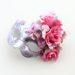 Romance Pink & Silver Floral Masked Ball Mask b