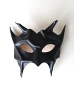 Devil Demon Black Leather Masquerade Mask