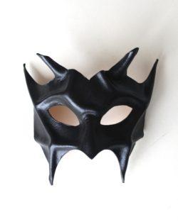 Devil Demon Black Leather Masquerade Mask