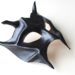 Devil Demon Black Leather Masquerade Mask b