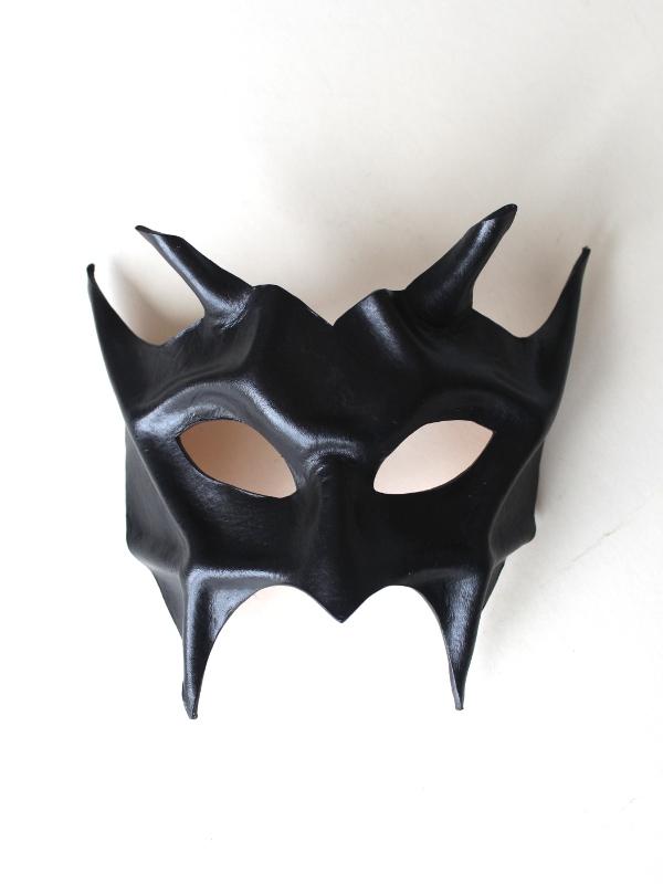 Black Leather Demon Devil Mask