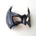 Handmade Black Leather Superhero Bat Robin Eye Mask Nightwing