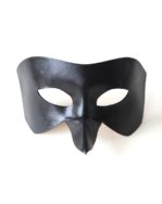 Men's Black Raven Bird Beak Leather Masquerade Masks