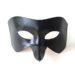 Men's Black Raven Bird Beak Leather Masquerade Masks