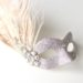Petite Pale Champagne Gold Beige Glitter Peacock Feather Jewelled Crystal Mask a