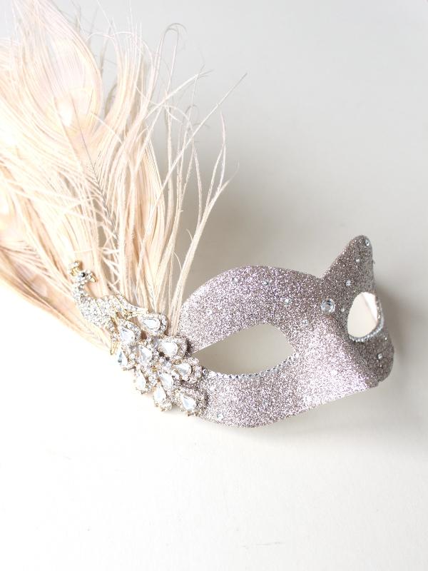 Petite Gold Crystal Peacock