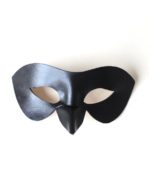 Women's Black Raven Bird Beak Leather Masquerade Masks b