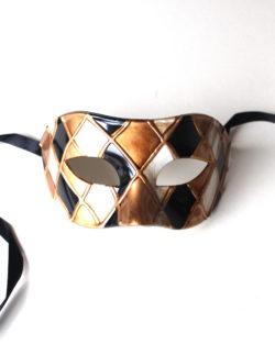 goldgreyharlequincheckersvenetianmask