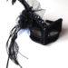 headband black & white masquerade mask
