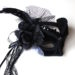 headband black & white masquerade mask b7