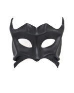 black demon devil leather masquerade mask