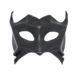black demon devil leather masquerade mask b