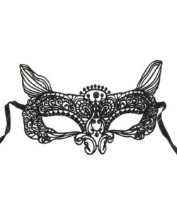 black fox mouse animal lace masquerade eye mask b