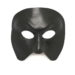black leather full face masquerade mask b