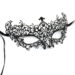 diamante metal filigree masquerade mask. with swirls & purple pink crystals