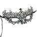 diamante metal filigree masquerade mask. with swirls & purple pink crystals