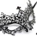 diamante metal filigree masquerade mask. with swirls & purple pink crystals b