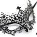 diamante metal filigree masquerade mask. with swirls & purple pink crystals b