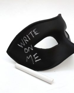 mens novelty black chalkboard mask