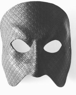 full face black patterned phantom of the opera mask