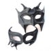 couples handmade black leather demon devil masquerade masks