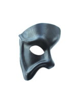 handmade black demon leather phantom of the opera mask b