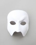 luxury handmade white leather designer full face phantom of the opera mask