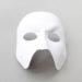 luxury handmade white leather designer full face phantom of the opera mask a