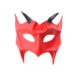 mens handmade horned red demon devil leather masquerade mask