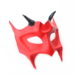 mens handmade horned red demon devil leather masquerade mask b