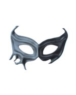 womens black leather superhero demon devil masquerade mask