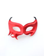 womens red leather demon devil masquerade mask