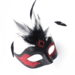 womens vanity black and red venetian masquerade mask