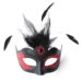 womens vanity black and red venetian masquerade mask a