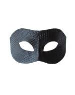 Men's Black Leather Python Snakeskin print masquerade mask