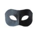 Men's Black Leather Python Snakeskin print masquerade mask